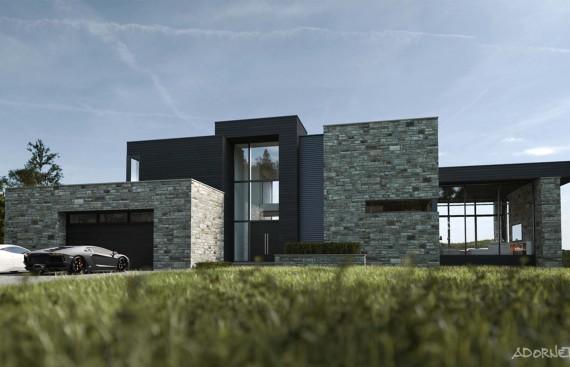 web projet 001 Lac Simon - 01 Facade 1 3D