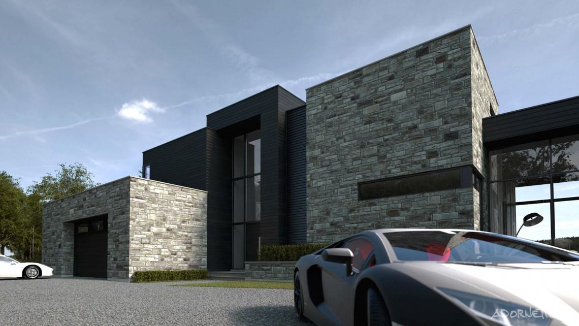 web projet 001 Lac Simon - 02 Facade 2 3D
