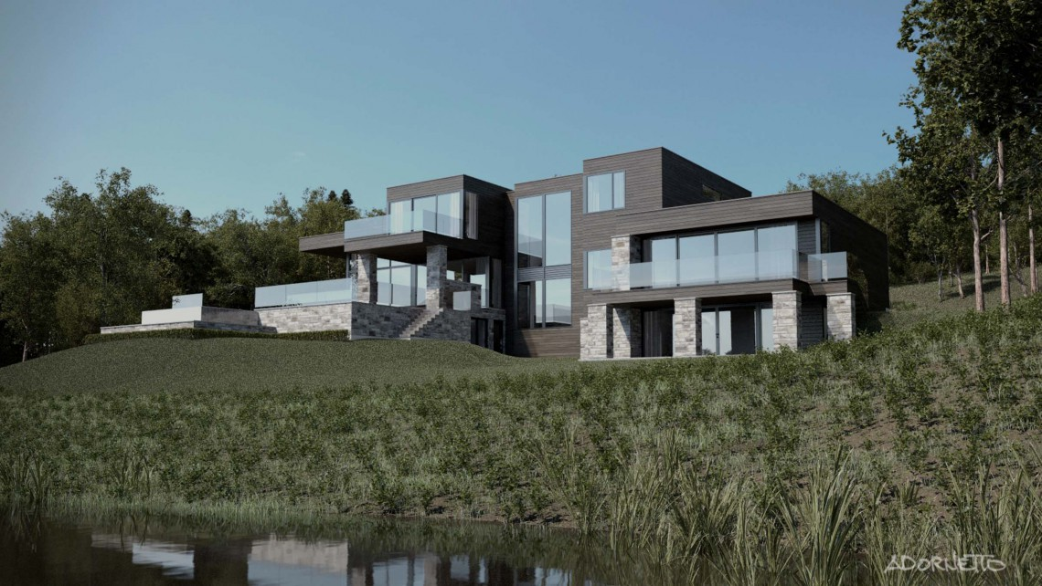 web projet 001 Lac Simon - 05 Arriere 2 3D