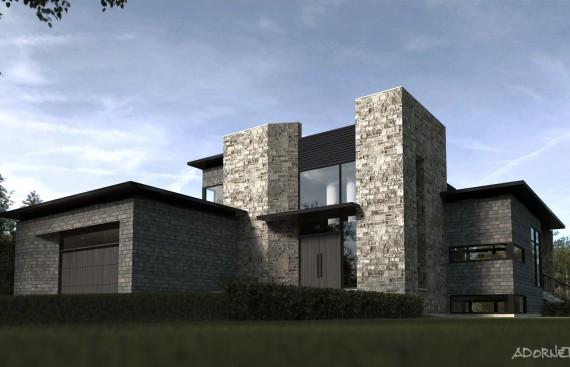 web projet 003 L'Estérel sur le rocher - 01 Facade 3D