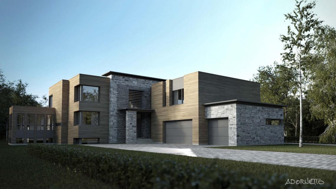 web projet 007 Le St-Bernard - 01 Facade 3D