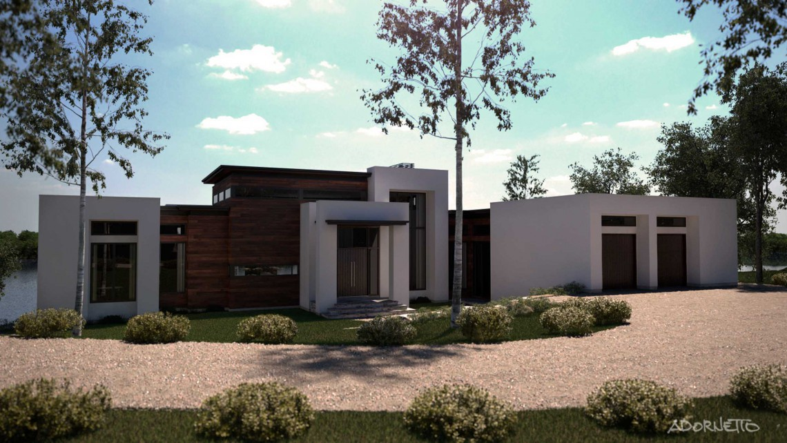 web projet 009 Le Lac Masson - 03 Facade 3 3D
